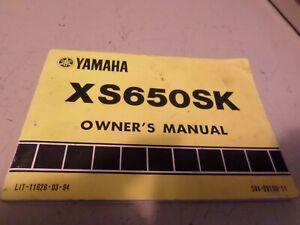 Vintage 1982 Yamaha XS650 SK Heritage Motorcycle Owners ...
