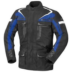Ixs Lame Hommes Blouson Moto Textile Touring - Noir Bleu Blanc O5me4ox0-07231821-714553776