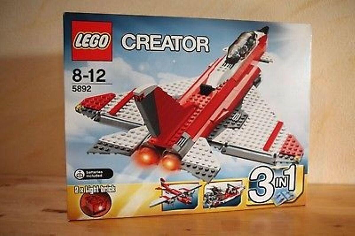 Lego 5892 Sonic boom rot Jet NEU