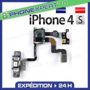 NAPPE-DE-BOUTON-POWER-ON-OFF-CAPTEUR-DE-PROXIMITE-ECOUTEUR-ASSEMBLE-IPHONE-4S