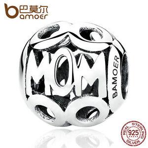 Bamoer-European-925-Sterling-Silver-Charm-MoM-Hollow-Bead-Fit-Bracelet-Jewelry