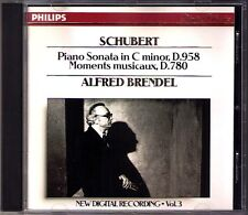 Alfred BRENDEL: SCHUBERT Piano Sonata D.958 Moments Musicaux D.780 PHILIPS CD