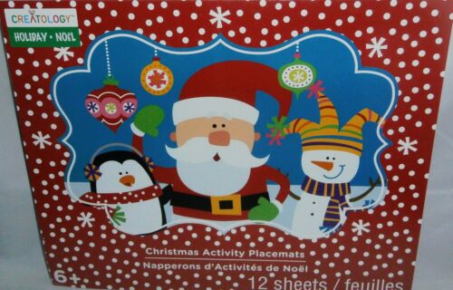CHRISTMAS ACTIVITY PLACEMATS by Creatology  12 Sheets 4 DESIGNS