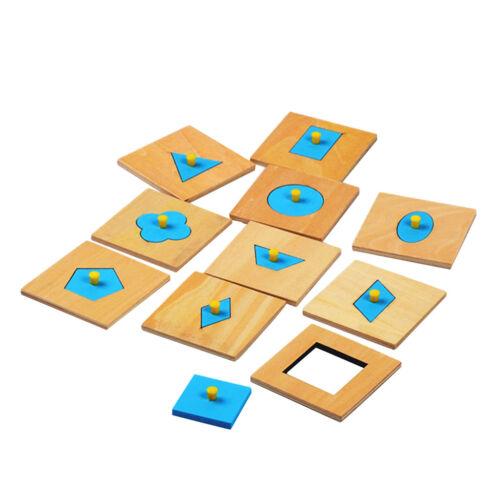 Hölzerne Block Sortierer geometrische Form Vorschulkinder die Puzzlespiel