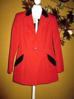 NWT HOBBY HORSE RED ENGLISH HORSE RIDING SHOW JACKET HUNT COAT  M