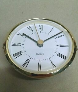 """CLOCK INSERT, ROMAN fit-up WHITE EASY-To-READ  face, BEAUTIFUL, 3"""" hole, 280RW"""