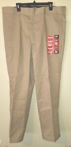 New-DICKIES-874-Flex-Original-Fit-Flat-Front-Size-40x32-Khaki-Pants