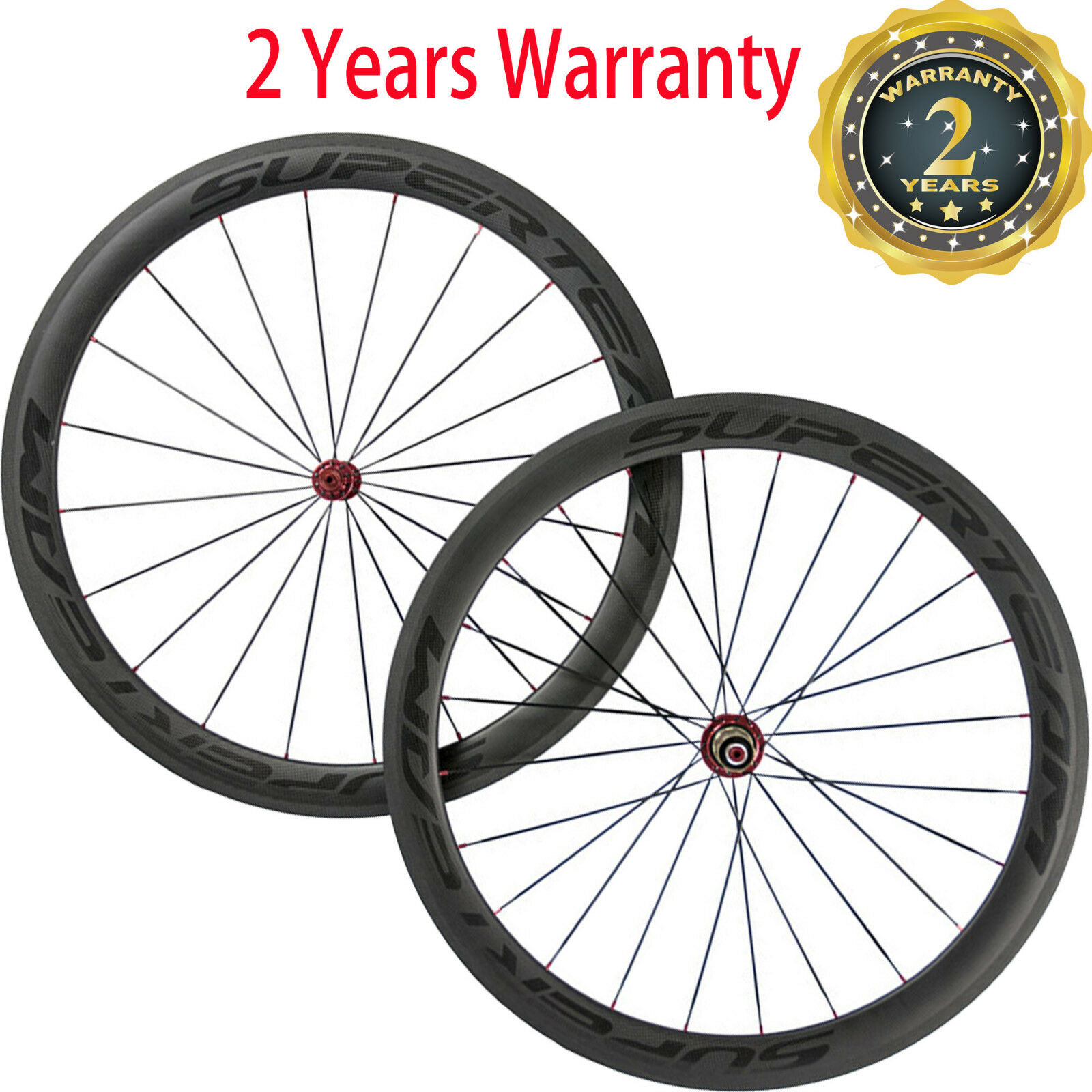 Superteam 50mm Clincher Carbon Wheels Road Bike Cycling Wheelset 700C  Bicycle  best prices