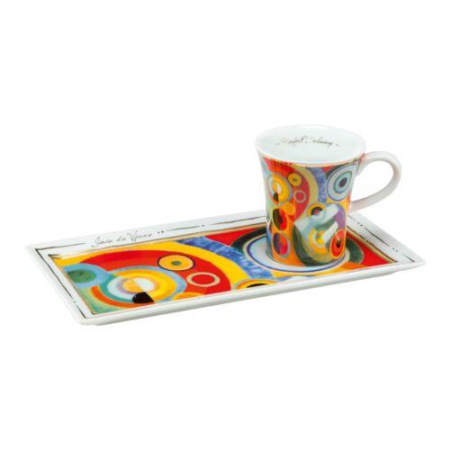 Goebel Lebensfreude Espresso Set Tasse Robert Delaunay Espressotasse ANGEBOT neu