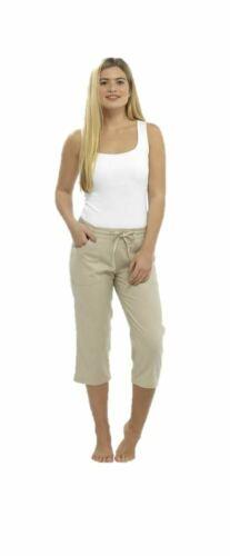 Donna Pantaloni corti linea Ragazze Pantaloni Casual Estate 3//4