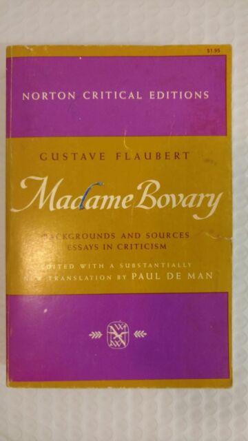 Madame bovary essays