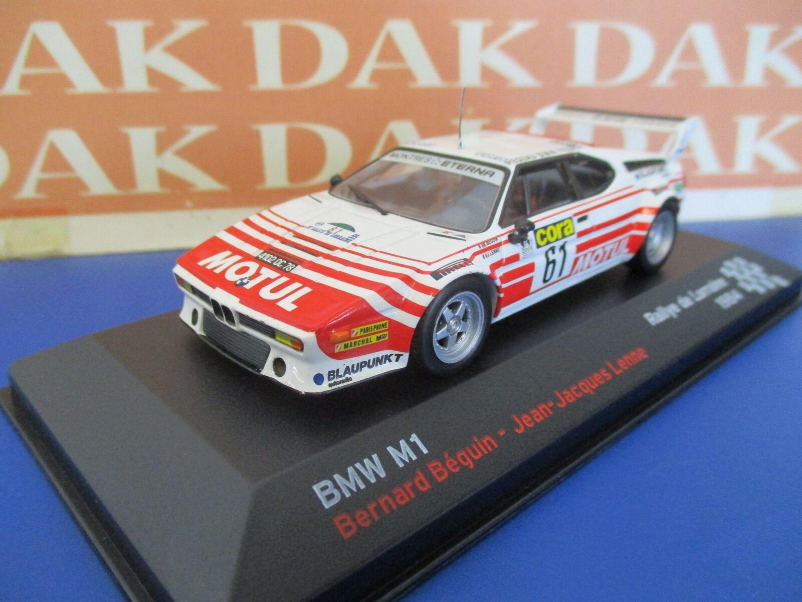 Die cast 1 43 Modellino Auto BMW M1 Rally de Lorraine 1984 B.Beguin