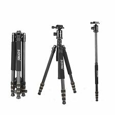 ZOMEI Z688C Carbon Fiber Tripod Monopod&Ball Head for Canon Nikon DSLR came