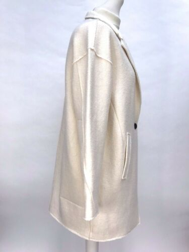 ZARA ECRU WOOL COAT JACKET WITH POCKETS SIZE M Ref 7901//024