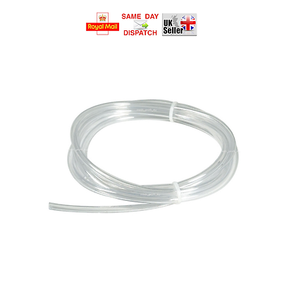 "1m CLEAR PVC UNREINFORCED HOSE 13mm 1//2/"" FISH POND AQUARIUM WATER AIR PIPE TUBE"
