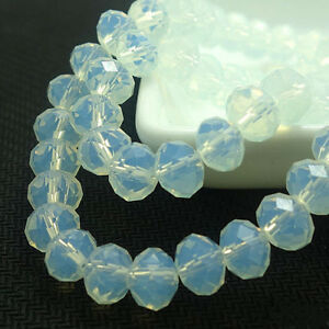 New Creamywhite Faceted 100pcs Rondelle exquisite crystal 3x2mm Beads!