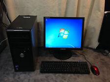 """Dell Desktop computer Optiplex 755 - Core 2 Duo 4GB 160GB Windows + 17"""" monitor"""