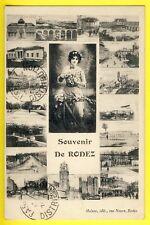 cpa Ed. MALZAC 12 - SOUVENIR de RODEZ Ecrite par Emile RICHARD à Mme CAZY, PARIS