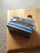 Three (3)  New Sealed TDK AD-90 Type I  Cassette Tape Made in Japan