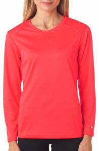 0f2042f7f Details about Badger Women's B Dry Core Self Polyester Double Needle Long  Sleeve T Shirt. 4164