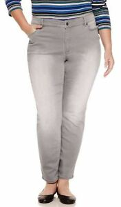 dd1f8d3441687 Liz Claiborne Woman City Skinny 5-Pocket Slim Leg Jeans Vapor Wash ...
