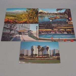 Vintage-California-Los-Angeles-Unused-Postcard-Lot-of-5