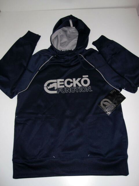 ECKO UNLTD FUNCTION Hoody Hooded Sweatshirt Small S sz Mens Sweater BLUE NEW NWT