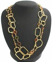 Joan Rivers Soft Edge Geometric Goldtone 60 Necklace
