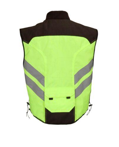 Hi-Viz Mil-Spec Motorcycle Biker Vest Neon Green by Wicked Stock MBV108
