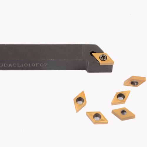SDACL 1010F07 1P* DCMT070204 UE6020 10x80mm External Lathe Turning Tool Holder