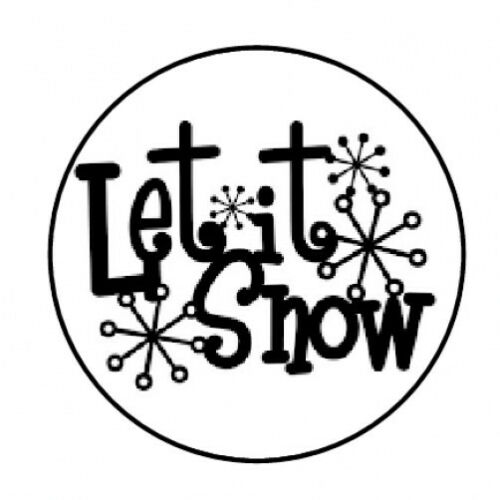 "48 LET IT SNOW CHRISTMAS ENVELOPE SEALS LABELS STICKERS 1.2/"" ROUND"
