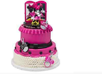 MINNIE MOUSE BAGS BOWS & SHOES KIT BIRTHDAY PARTY CAKE TOPPER DECORATION GIRL
