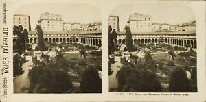 Italia Roma I Thermes Chiostro Da Michelangelo Foto Stereo Analogica PL60L11