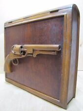 Old Folk Art Hand Carved Pistol Wooden Figural Book Box Decorative Art Detailed