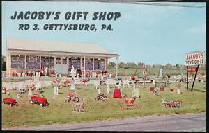 GETTYSBURG-PA-Jacoby-039-s-Gift-Shop-Vintage-Postcard-Old-Penna-PC