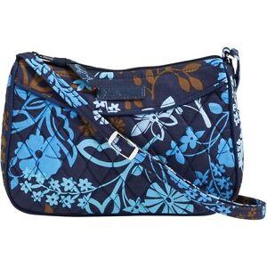 7c801eb7b8 VERA BRADLEY Little Crossbody JAVA FLORAL Bag Purse Tote Shoulder ...