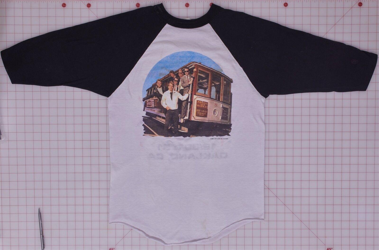 Huey Lewis & the News Vintage New Year's 1985 Oakland, CA XL Baseball Shirt