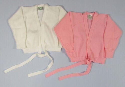 Childrens Girls Wrap Cross Over Cardigan Dance Ballet Plain Lilac Pink White