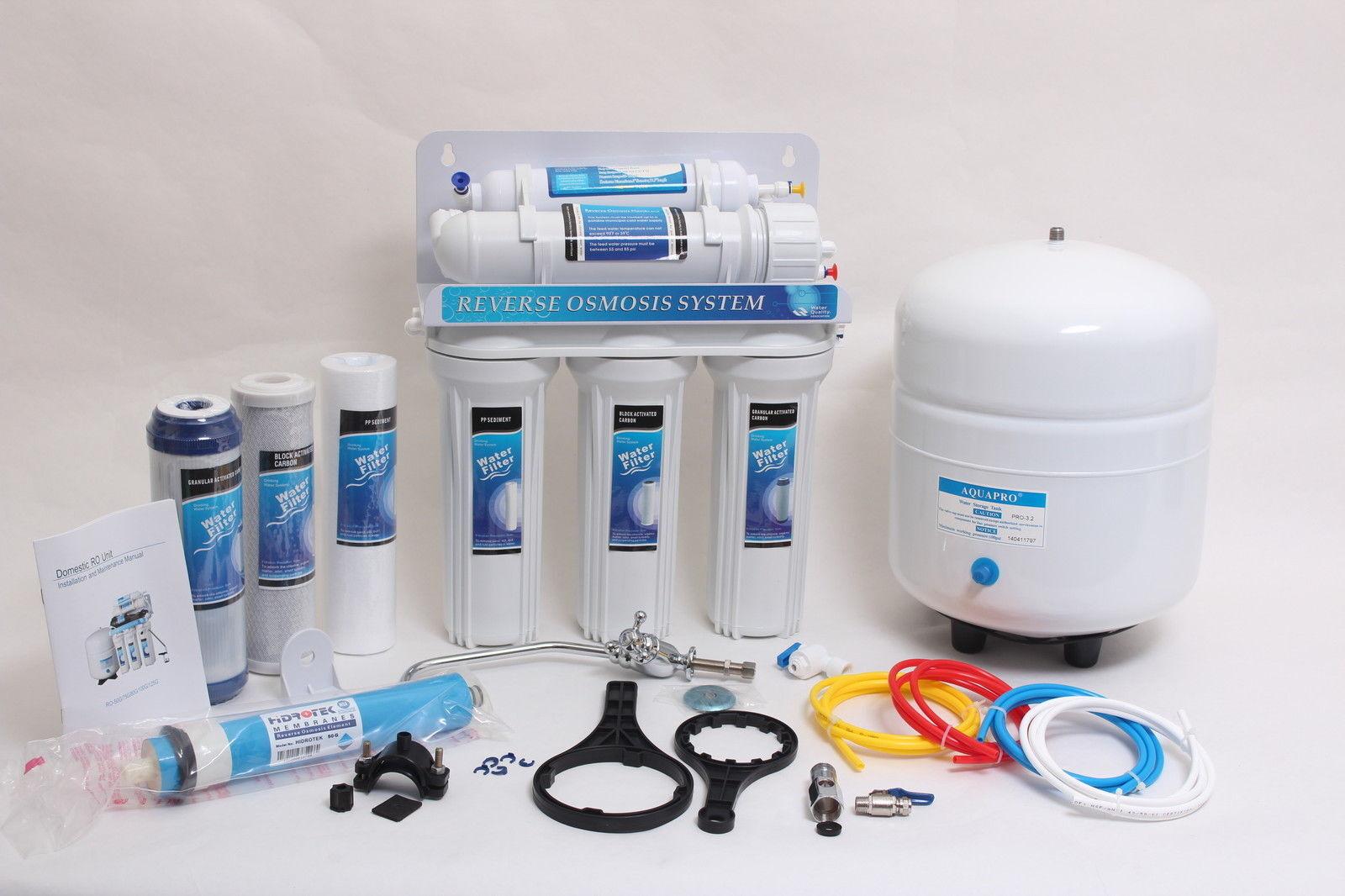 Osmose inverse 5 Etapes Osmose Inverse Osmose Inverse annexe ro50 e00 50gpd Filtre à Eau NSF 3,2 g
