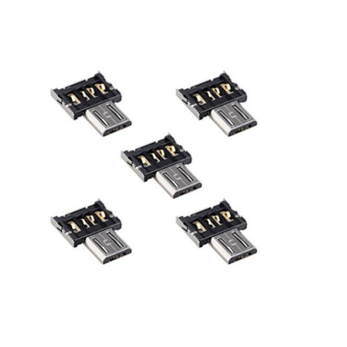 5x Ultra Mini DM Micro USB 5pin OTG Adapter Connector for Cell Phone Tablet