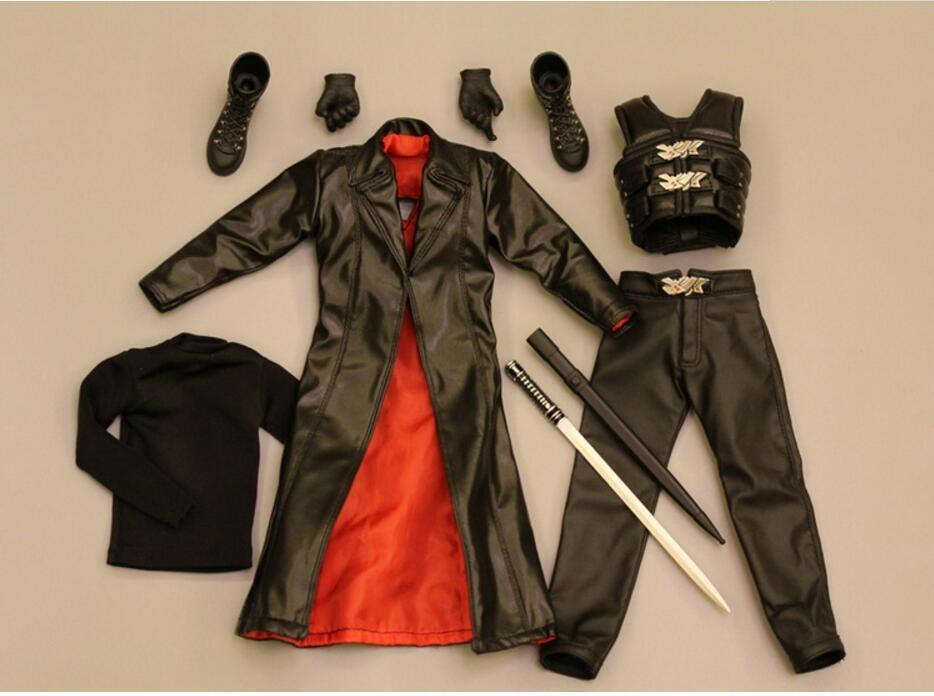 1 6 Scale Caliente Blade Wesley Snipes BLADE II II II Clothes cifra set 3e40ba