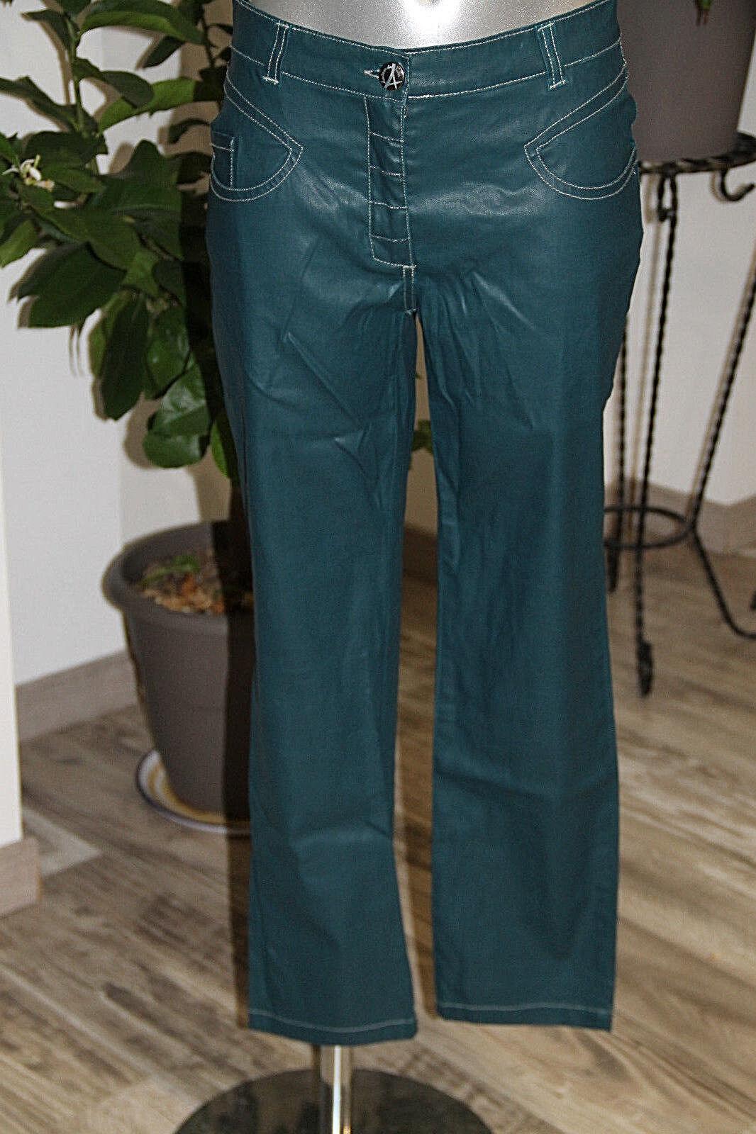 Pantaloni 7 8 finta pelle foglia di tè AVENTURES DES TOILES taglia 36