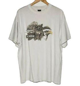VTG-90s-Harley-Davidson-Jamestown-California-T-shirt-1994-Holoubek-Men-039-s-XXL