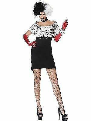 Cruella Evil Madame Fancy Dress Costume