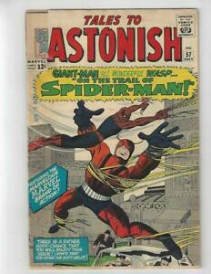 Tales to Astonish #57/Silver Age Marvel Comic Book/Spider-Man X-Over/GD+