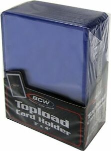 Case-1000-3-034-x-4-034-BCW-Card-Topload-Holders-Sport-Trading-Gaming-Cards-Toploaders