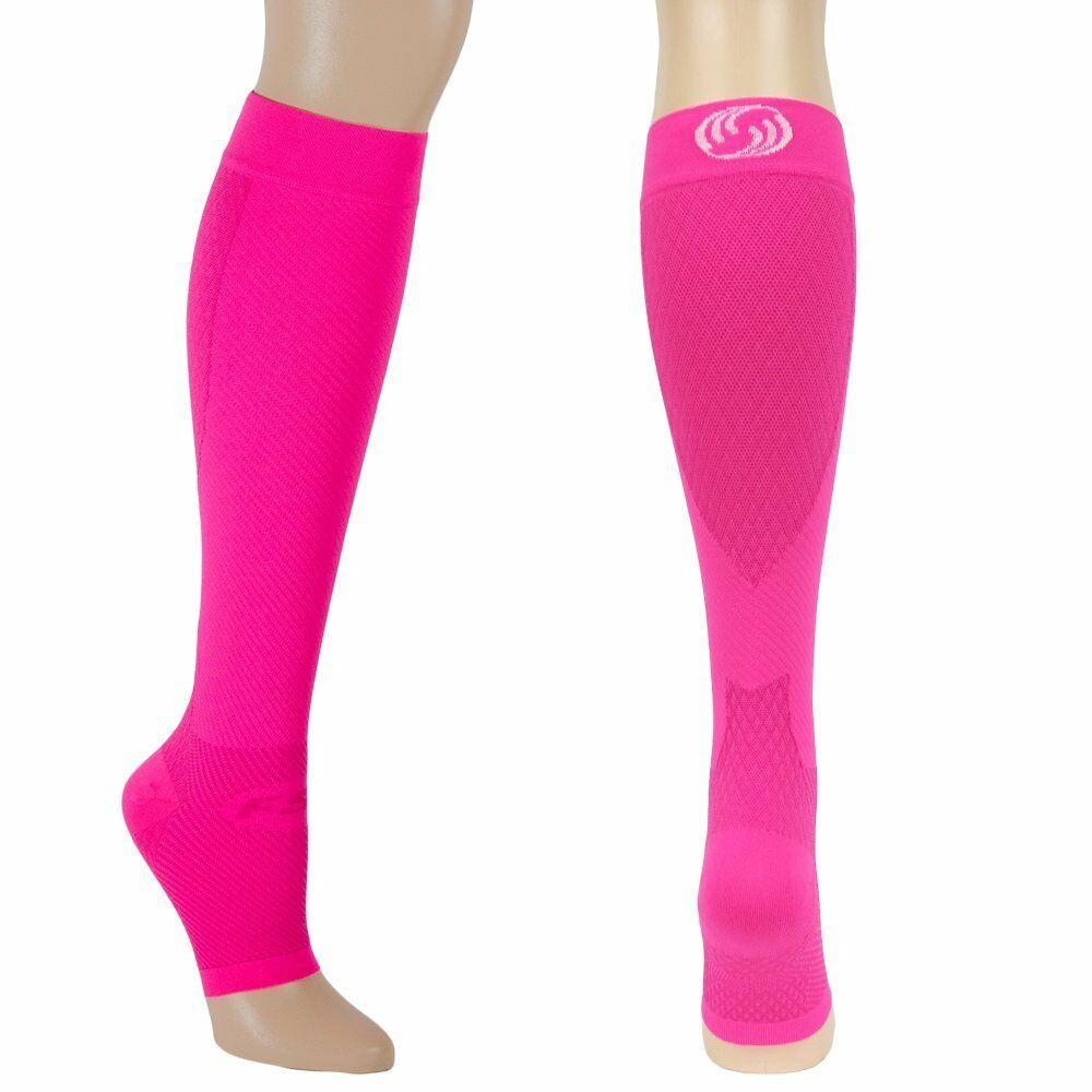 OrthoSleeve FS6+ Compression Foot and Calf Sleeves - Pink Fusion