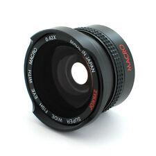 Wide Angle .42X Fisheye Lens for Sony Handycam DCR-SR68,HCR-CX100,CX110,CX150,US