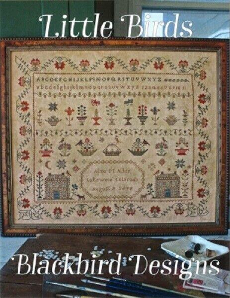 Blackbird Designs - Little Birds Counted Cross-stitch Pattern