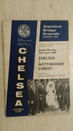 1965/66 League Programme: CHELSEA v. NOTTINGHAM FORREST - 11th April